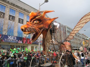 Famous Festivals in Europe St. Patrick's Day parade in Dublin, Ireland