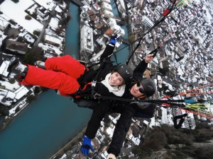 spontaneous travel europe world on a whim paragliding Interlaken, Switzerland