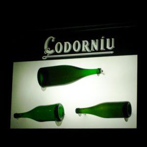 Souvenirs in Barcelona champagne