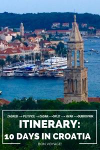 Croatia Itinerary 10 Days in Croatia