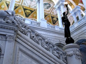 The ornate detail found at the Library of Congress