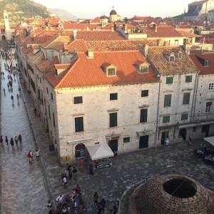 walking the walls in Dubrovnik, Croatia