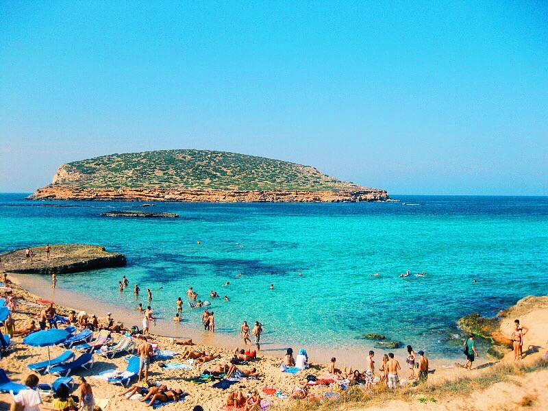 beach in Ibiza in September closing weekend