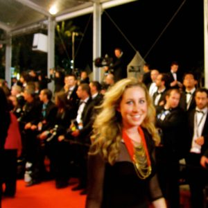 walking the red carpet at the Cannes Film Festival