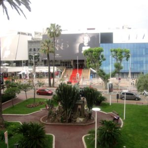 View of the Palais from my balcony Cannes Film Festival