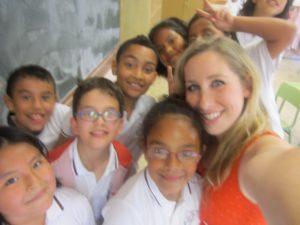 school and kids spontaneous summer