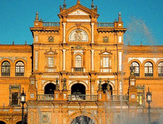 spring in europe sevilla feria plaza de espana