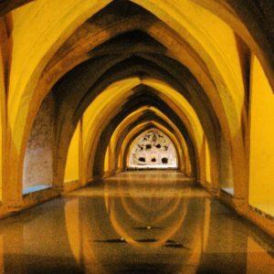 Sevilla alcazar baths spring