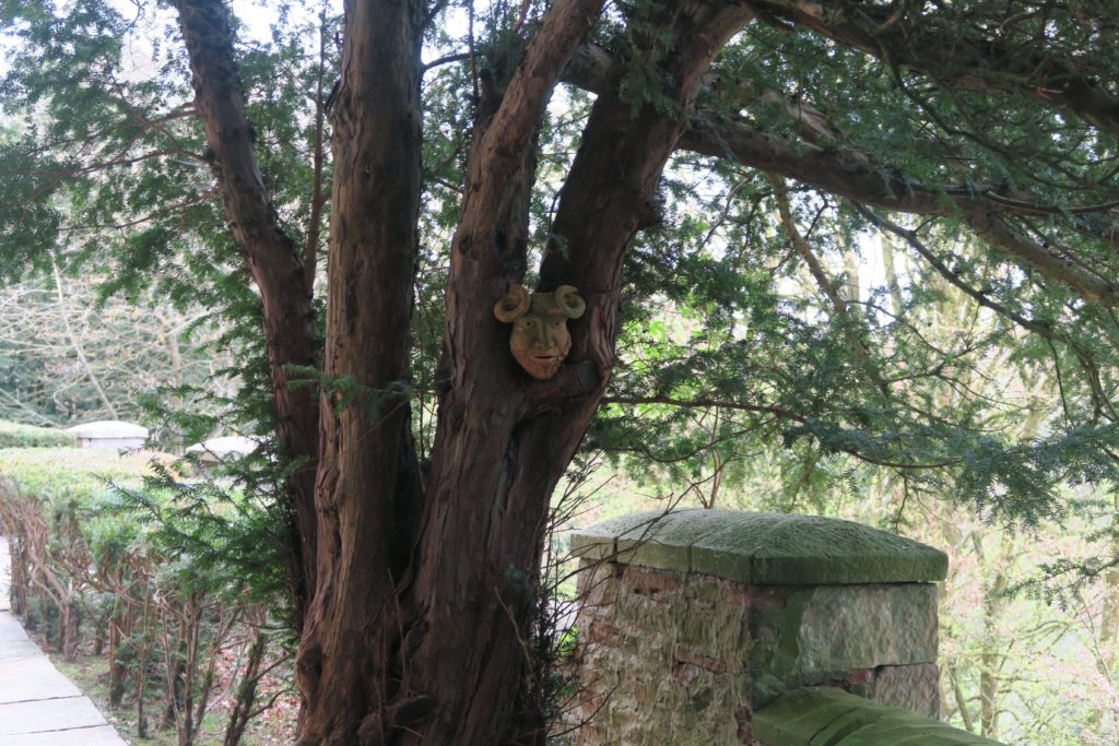 Heads in tree Appleby Castle