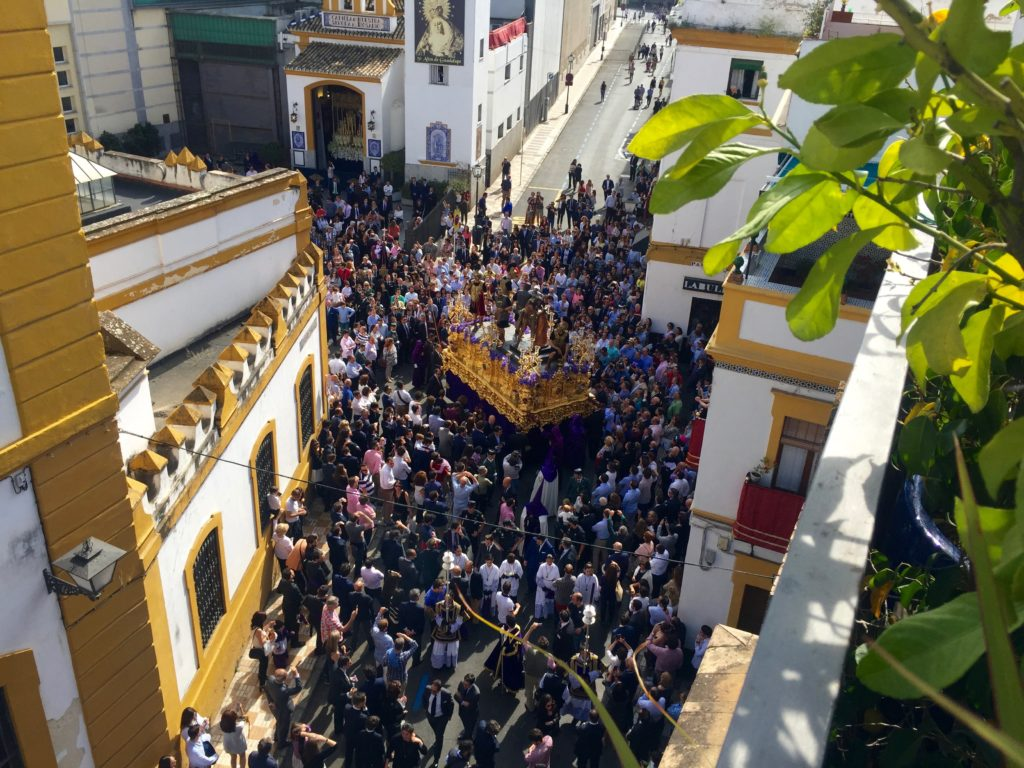 La Banda Rooftop overlooking Semana Santa processions