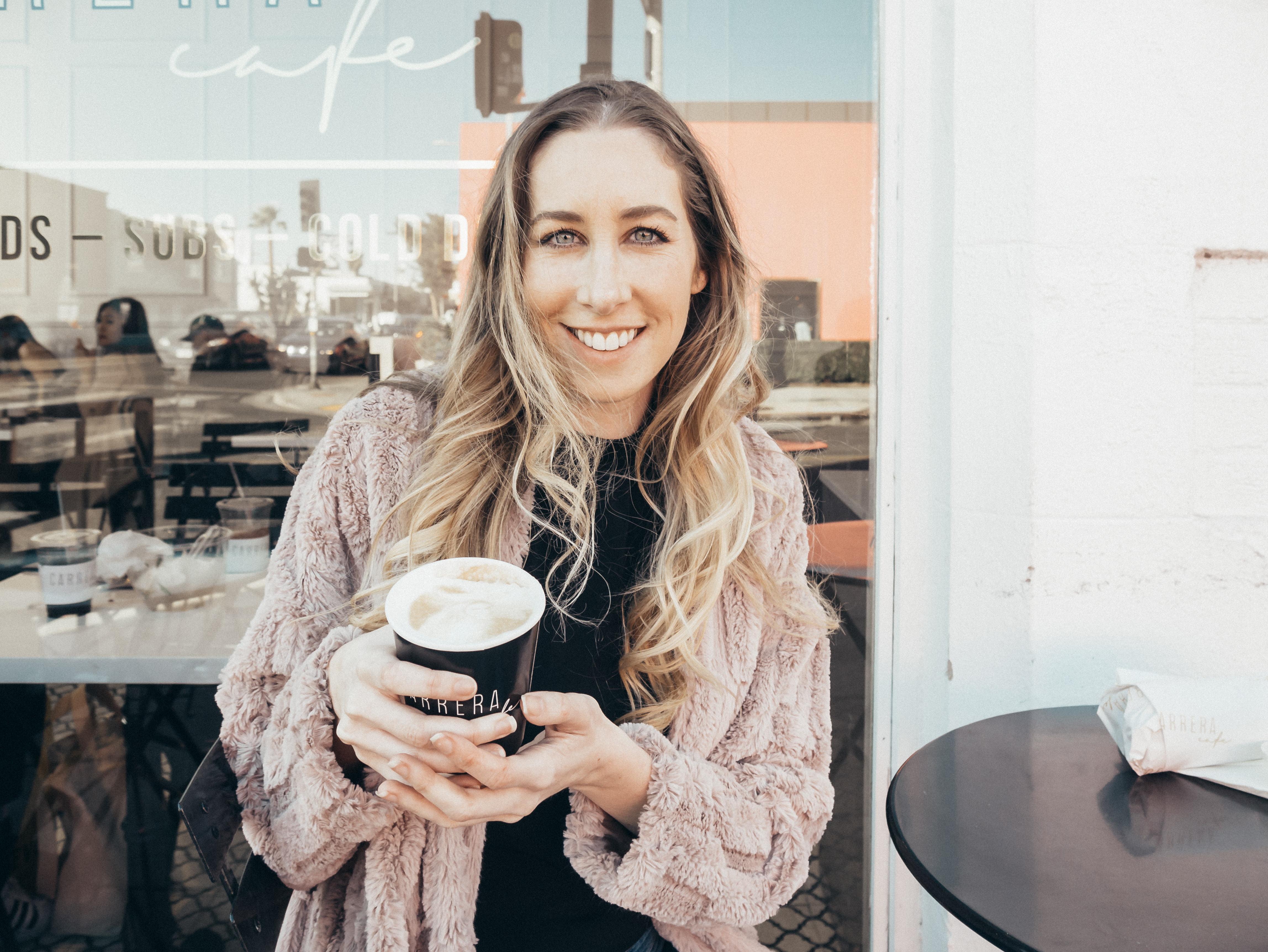 fun activities in Los Angeles: selfie coffee at Carrera Cafe