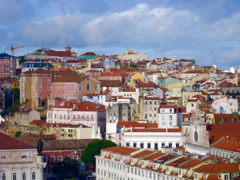 "Lisbon viewpoint in ""Best Hostels in Europe for Solo Travelers & Backpackers"""