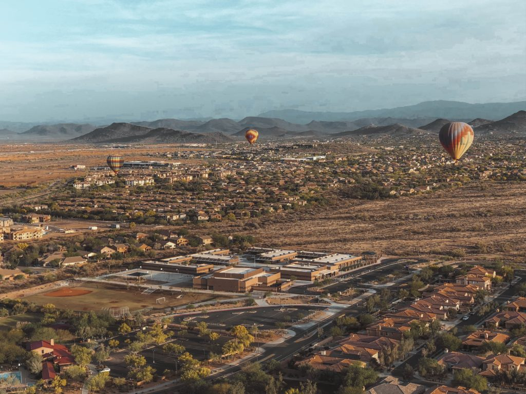 hot air ballon ride phoenix, arizona
